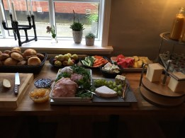 What a spread for breakfast in Billund, Denmark!