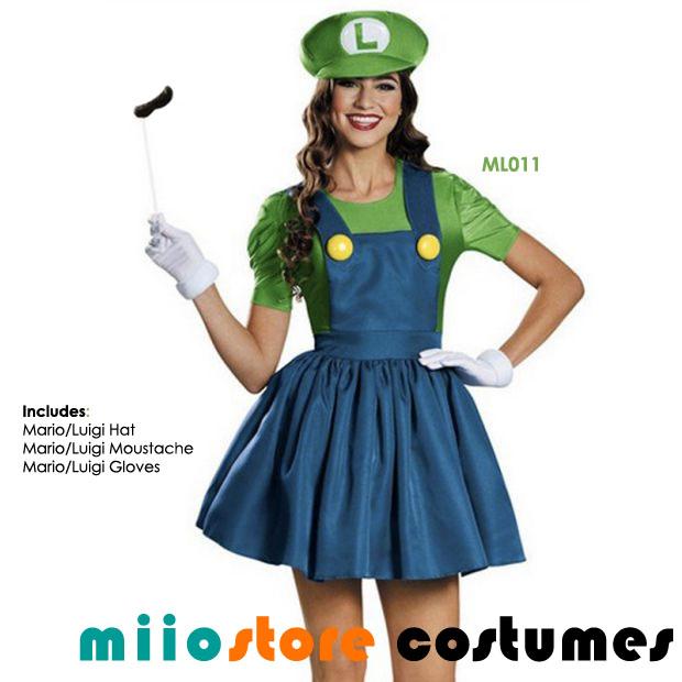 ML011 Luigi Premium Costumes - miiostore Costumes Singapore