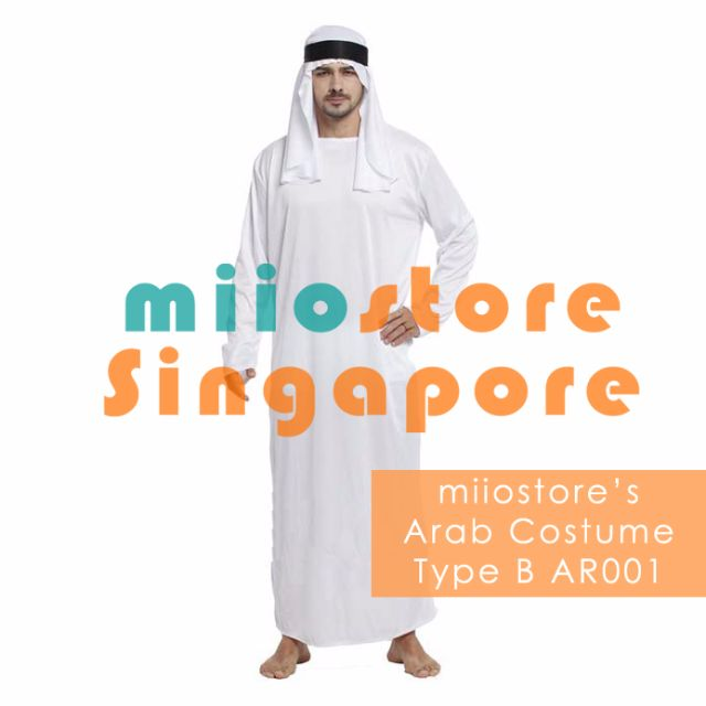 RENT Arab Costume Arabic Costume Arab Prince Arab Outfit Thawb Thobe Thaub Arab Tunic Sheik Costume Sheikh Tunic Traditional Arab Clothing Singapore