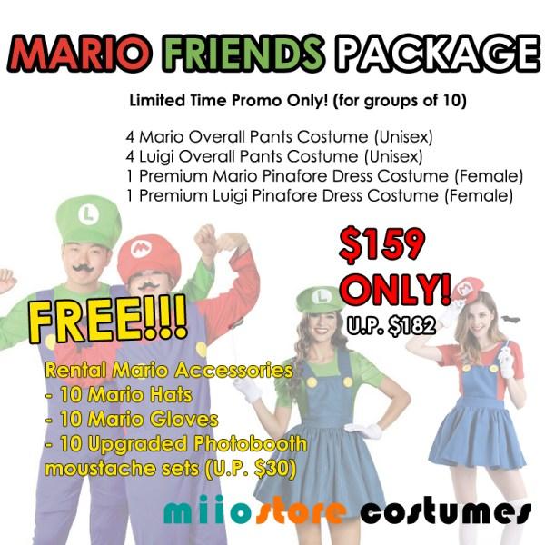 Mario Friends Package - miiostore Costumes Singapore