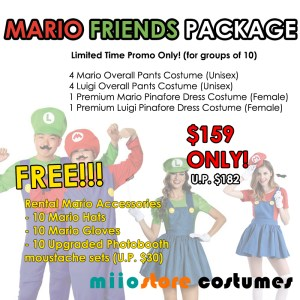 Mario Friends Package - miiostore Costumes Singapore