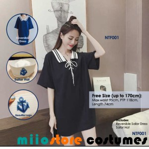 miiostore's Sailor Dress Costume - Nautical Theme - miiostore Costumes Singapore