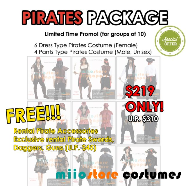 Pirates Package - miiostore Costumes Singapore