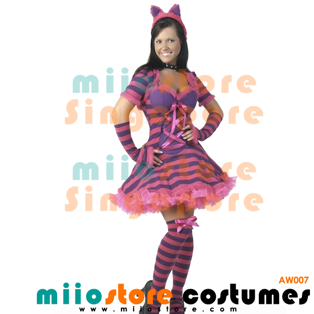 AW007 - Cheshire Cat Female Costumes - Alice in Wonderland Costumes Singapore - miiostore Costumes Singapore
