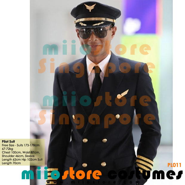 Pilot Suit Set with Cap - miiostore Costumes Singapore - P011