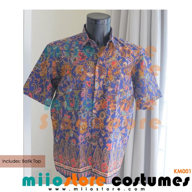Male Batik Shirt Peranakan - KM001 - miiostore Costumes Singapore
