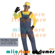 Kids Minion Costumes Boys Overall Pants - miiostore Costumes Singapore - MN001