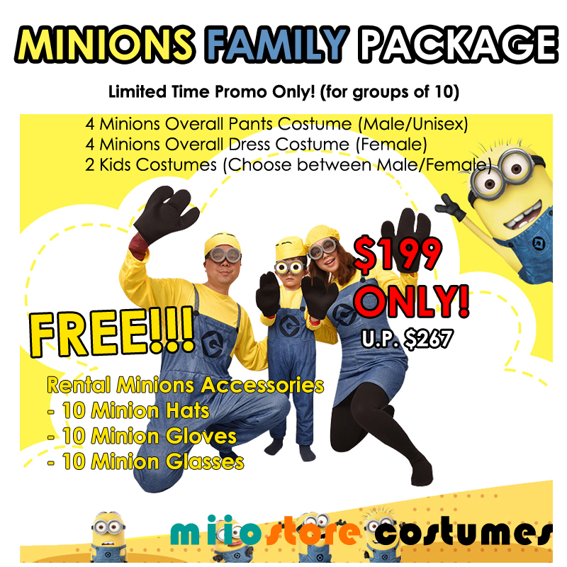 Minions Family Package - miiostore Costumes Singapore