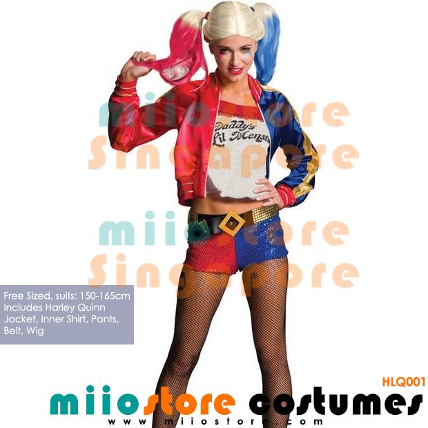 Harley Quinn Suicide Squad Costumes - miiostore Costumes Singapore - HLQ001
