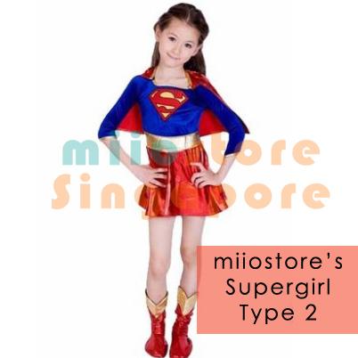 Supergirl Costumes Singapore - miiostore Costumes Singapore - SU004