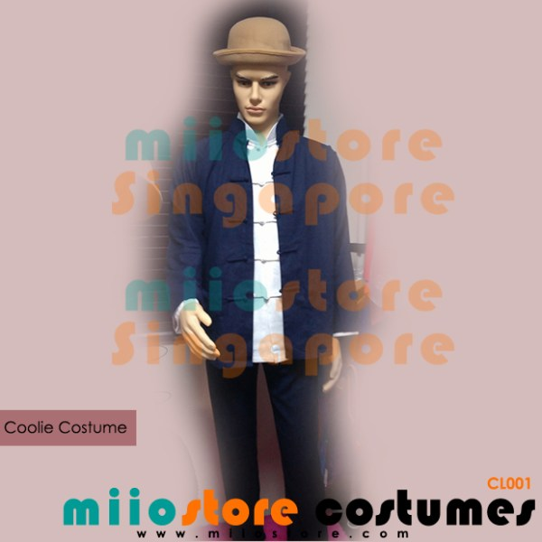 Chinese Coolie Costumes - miiostore Costumes Singapore - CL001