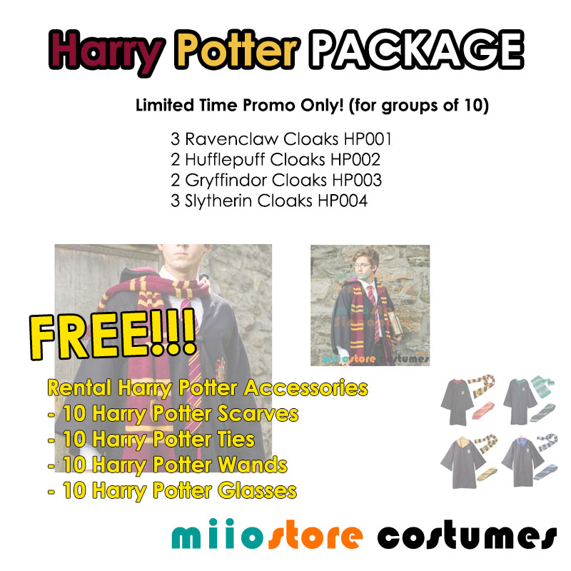 Harry Potter Costume Package - miiostore Costumes Singapore - HP001 HP002 HP003 HP004