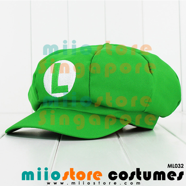 Limited Edition Premium Luigi Jockey Cap ML032 - miiostore Costumes Singapore