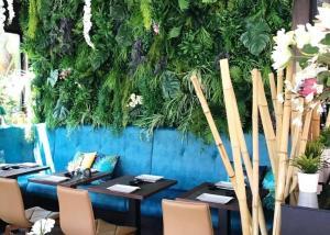 Pared Jardin vertical artificial restaurante mediterraneo
