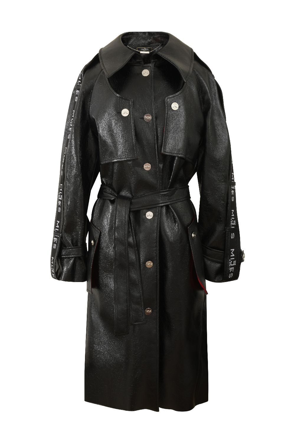 Trench effet cuir