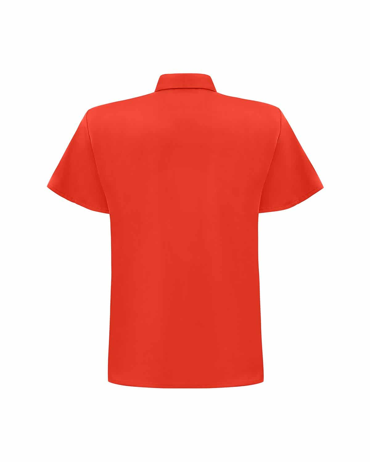Chemise Courtes Manches Corail Fluo