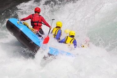 ラフティングの【raft】は【いかだ】