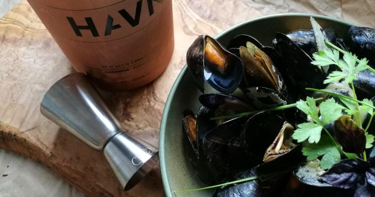 mussels & gin