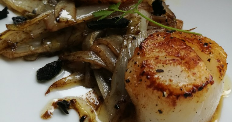 coquilles met witloof – sint-jacobsvruchten with love – en truffel
