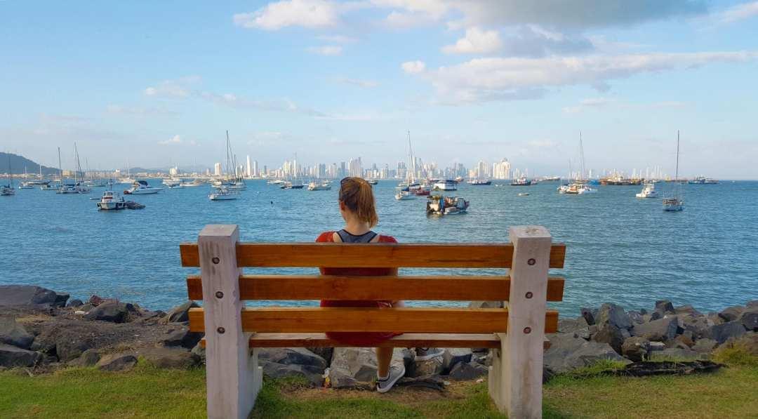 Panama City Uitzicht skyline