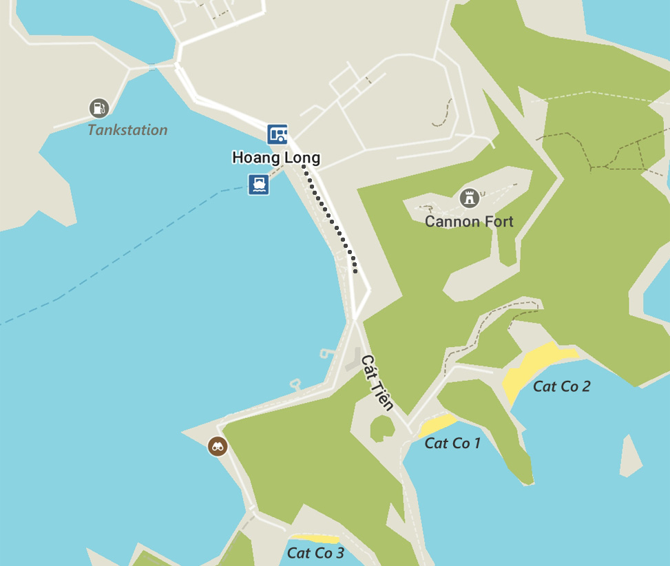 Cat Ba Town kaart