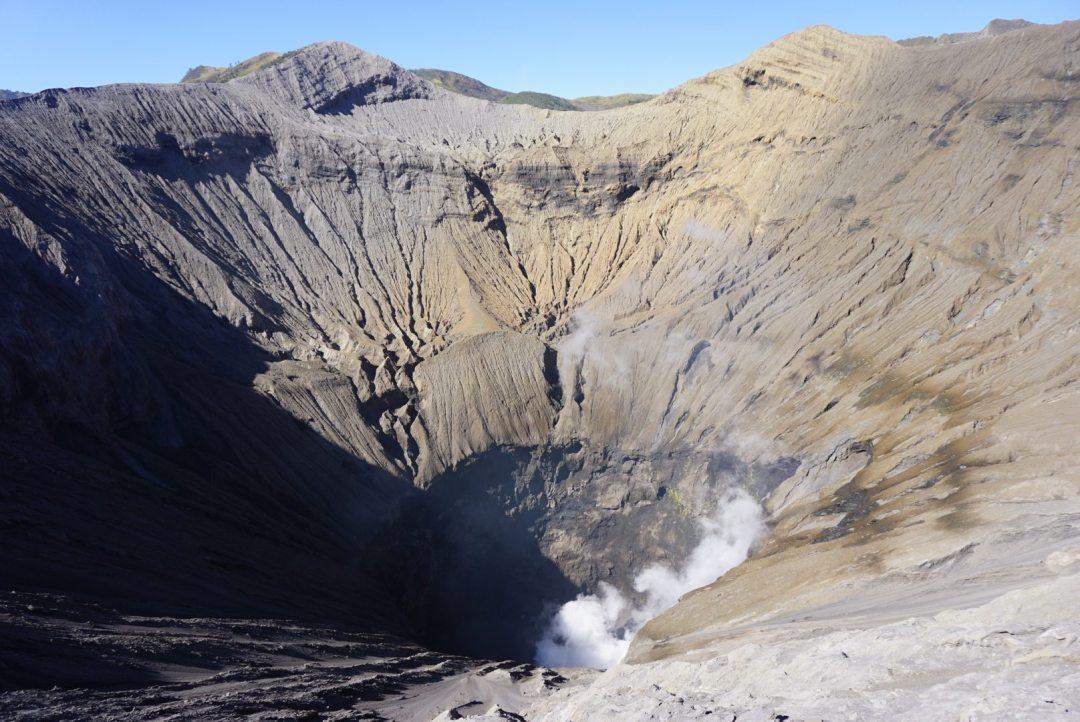 Bromo vulkaan krater