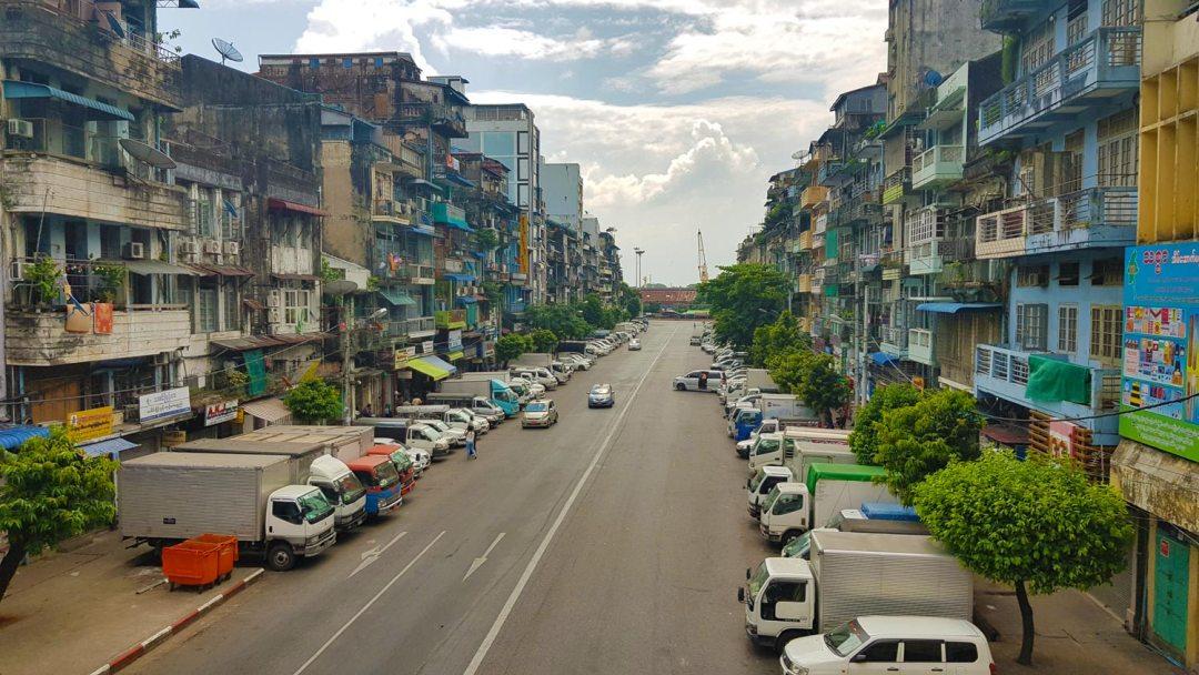 Yangon-Straat-Myanmar
