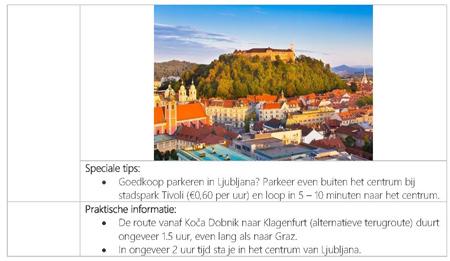 reisplan Mijn Slovenië