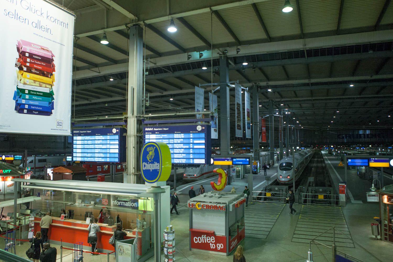 Het hoofdstation van München. Bron Mark Koghee