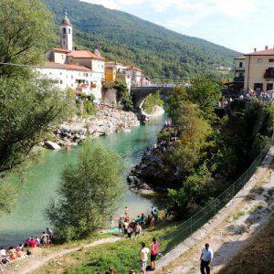 Soca rivier in Slovenië; foto J. Rovscek