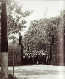 Entrance gate of the Camp Tjideng, next to the avenue Triveli/Tjidengroad-West (Collection NOID). The regime in this camp became notorious in a later time period, because of the unpredictable, cruel behavior of the general camp commander. He established himself here permanently in April 1944. The infamous Sonei Kenichi.