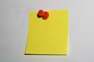 黄色の付箋