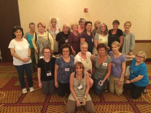 Tin and Clay Shrine Class at Art Unraveled 2014