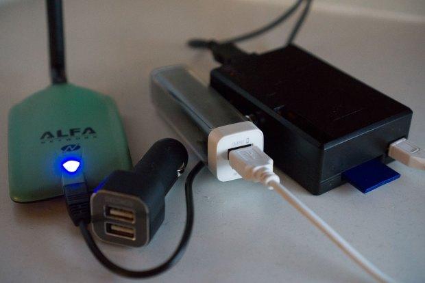 Raspbery Pi kan drivas på bilbatteriet eller från en usb-powerpack