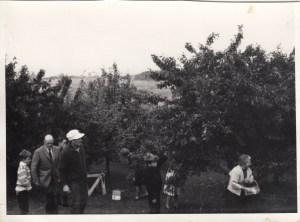 Familien på besøg i Kulhuse