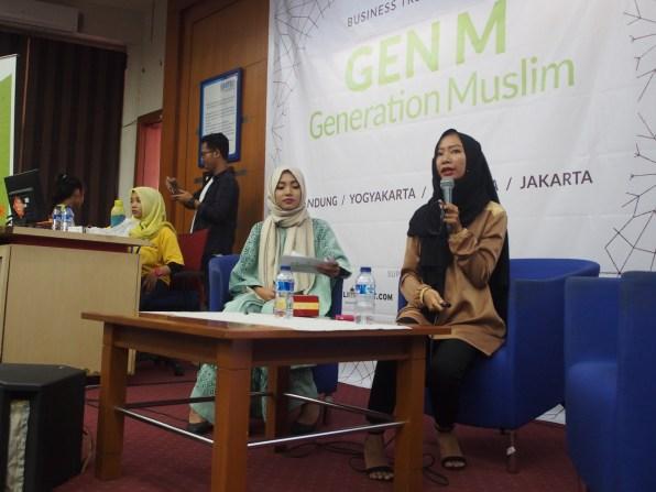 Mrs. Risa Kariska from Hijabers Community Regional Bandung. -Moeslema.com-