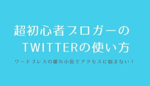【WordPress】超初心者ブロガーのTwitterの使い方。離れ小島で、アクセスの少なさに涙目にならないための方法!
