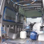 現在進行中!メルセデススプリンターを自作でキャンピングカーに改造ー換気扇とファンの装着
