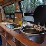 ベンツスプリンターの自作キャンピングカー:キッチン進捗状況