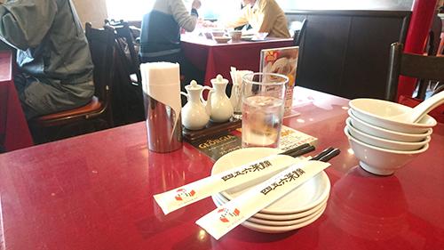 四五六菜館テーブル