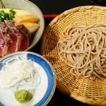 壱:横浜中華街お得ランチ【番外編】File.87/手打ち蕎麦とカツオの小丼