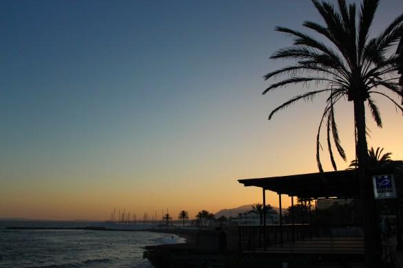 coucher de soleil, marbella