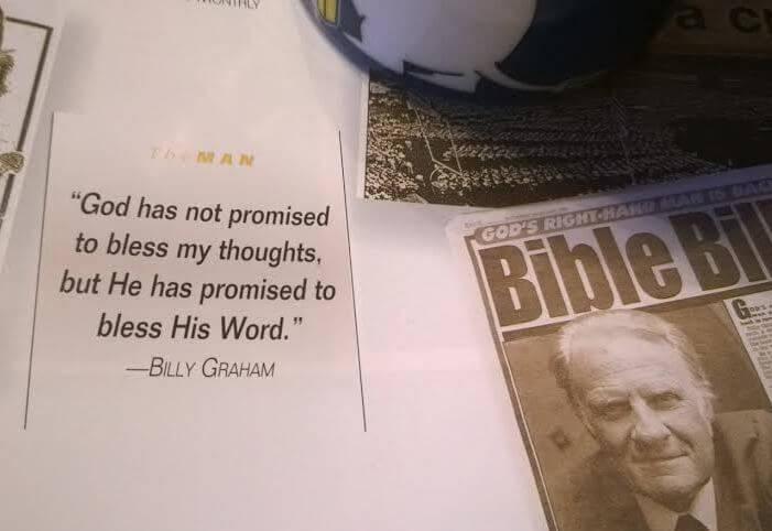 Evangelist Billy Graham quote