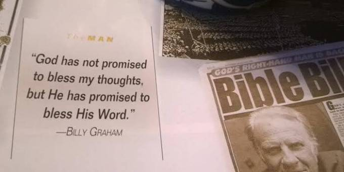 Evangelist Billy Graham quote