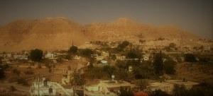 Kiusausten vuori Jerikon kaupungista päin