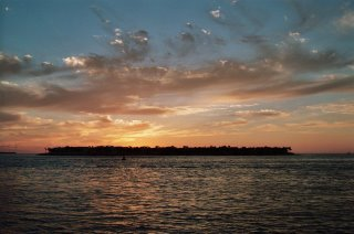 A photo of the sunset from Mallory Park in Key West, Florida.