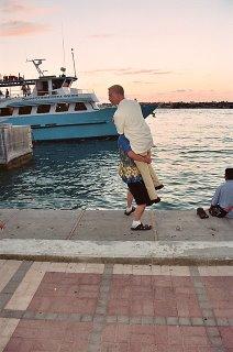 Chris taking the plunge!