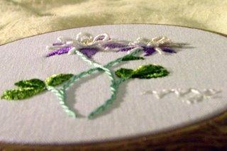Brazilian Dimensional Embroidery Columbine Flower