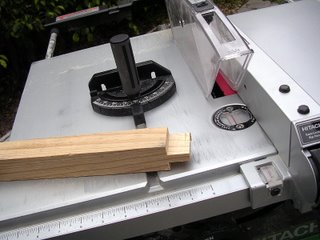 Tenon cut on a table saw