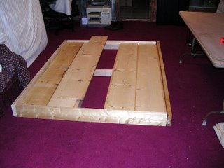 Rough assembly of queen sized bedframe